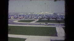 1964: people walking from the game NIAGRA FALLS, NEW YORK Stock Footage