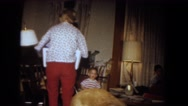 1964: a family enjoying with his childrens. NIAGRA FALLS, NEW YORK Stock Footage