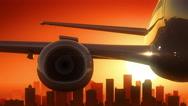 Charlotte North Carolina USA America Skyline Sunrise Take Off Stock Footage