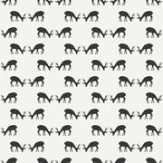 Tribal ethnic seamless pattern with deer. Reindeer. Wrapping paper. Scrapbook Stock Illustration