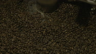 Beans in coffee roaster Stock Footage