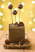Chocolate cake pops Stock Photos