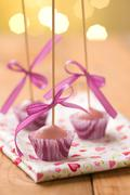 Pink cake pops Stock Photos