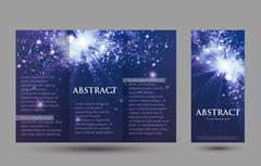 Design templates collection for banners, flyers, placards and posters. Bokeh Piirros
