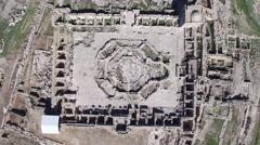 Mt Gerizim - Har Gerizim (Israel aerial footage) Stock Footage