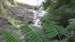 Waterfall from Cliff Nature Scene Stock Footage
