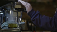 Preparing tea in coffee maker Stock Footage