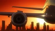 Houston Texas USA America Skyline Sunrise Take Off Stock Footage