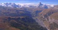 Zermatt mountains - Aerial 4K Stock Footage