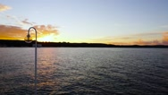 Timelapse at sunset in sea Stock Footage