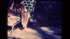 1964: feeding a chipmunk NIAGRA FALLS, NEW YORK Stock Footage