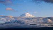 4K Timelapse rolling clouds over Mt.Fuji, Japan Stock Footage