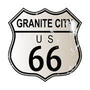 Granite City Route 66 Stock Illustration