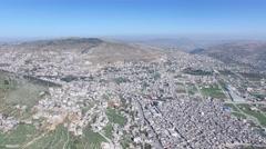 Mt Gerizim - Balata - Jabal Jirzim (Israel aerial footage) Stock Footage