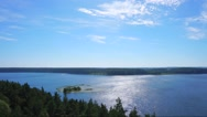 Forest under blue sky timelapse Stock Footage
