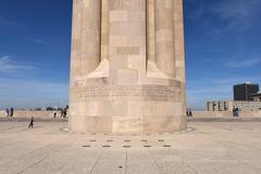 Base of Liberty Memorial in Kansas City Missouri Stock Photos