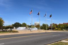Firefighters Fountain in Kansas City Missouri Stock Photos