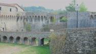 Sarzana castle ruins in liguria italy Stock Footage