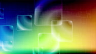 Colorful glossy squares video animation Stock Footage