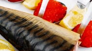 Fish and caviar Stock Footage