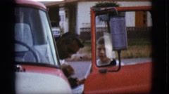 1968: a father coming home to his two sons COTTONWOOD, ARIZONA Stock Footage