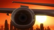 Philadelphia Pennsylvania USA America Skyline Sunrise Take Off Stock Footage