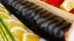 Fish and caviar Stock Footage