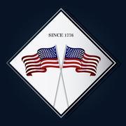 United states of america flag design Stock Illustration