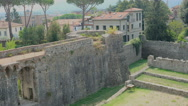 Sarzana castle ruins in liguria italy Stock Footage