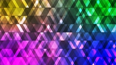 Broadcast Twinkling Hi-Tech Diamonds, Multi Color, Abstract, Loopable, 4K Stock Footage