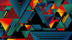 Tribal Geometries Tunnel Vj Loop Stock Footage