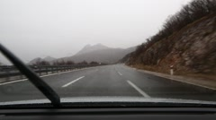 Driving in rain Stock Footage