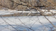 Moscow ice on the river Stock Footage