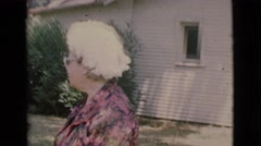 1968: bonding with your pet is good COTTONWOOD, ARIZONA Stock Footage