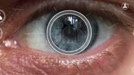 Human eye business communication network group Stock Footage