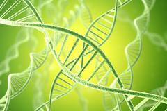 Concetp digital illustration DNA structure. 3d rendering Stock Illustration
