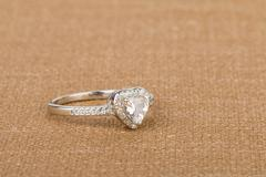 Beautiful ring with gems. Stock Photos
