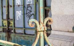 Antique rusty metal ornaments Stock Photos