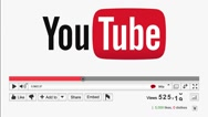 Static shot of an animated Youtube view counter increasing. Viral video Stock Footage