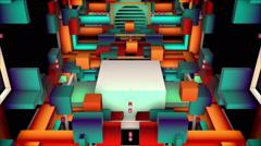World of Cubes VJ loop Stock Footage