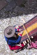 Traditional weaving, Cuzco, Peru Stock Photos