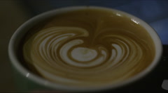 Cup of coffee with froth Stock Footage