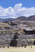Sacsayhuaman, arguably is the most impressive of all the ancient sites in Peru , Stock Photos