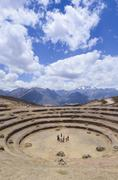 Moray, an archaeological site in Peru approximately 50Êkm northwest of Cuzco Stock Photos