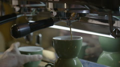 Espresso maker Stock Footage