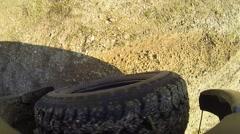 4x4 wheel car truck jeep Stock Footage