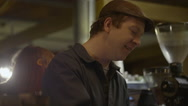 Man in coffee shop Stock Footage