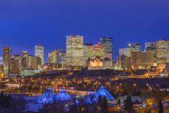 The Edmonton skyline in winter, Edmonton, Alberta, Canada Kuvituskuvat