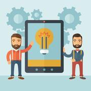 Idea presentation for gadgets Stock Illustration