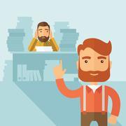 Tough office job Stock Illustration